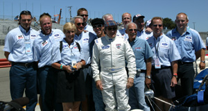 Jackie Stewart with Team Tyrrell at the 2005 Monterey Historic