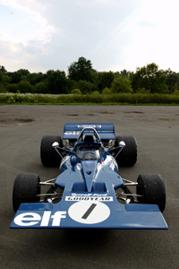 Tyrrell 001 in the lot at the old Tyrrell Works Shop, at Ockham
