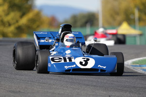 John Delane in Tyrrell 002 at Jarama, Spain